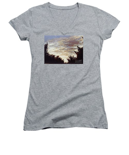 Backyard Sunset Women's V-Neck