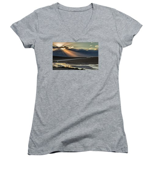 Bad Water Basin Death Valley National Park Women's V-Neck