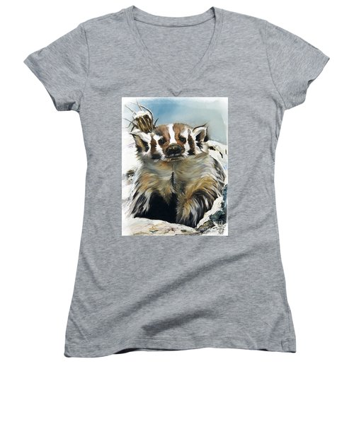 Badger - Guardian Of The South Women's V-Neck (Athletic Fit)