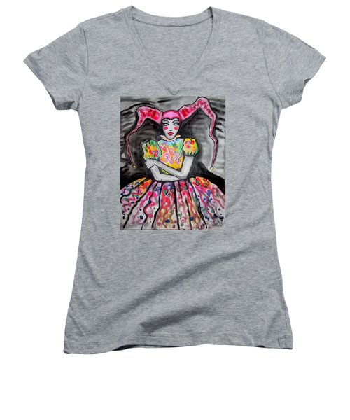 Badjoker Women's V-Neck