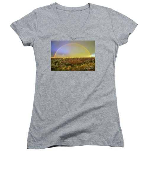Badlands Rainbow Promise Women's V-Neck (Athletic Fit)