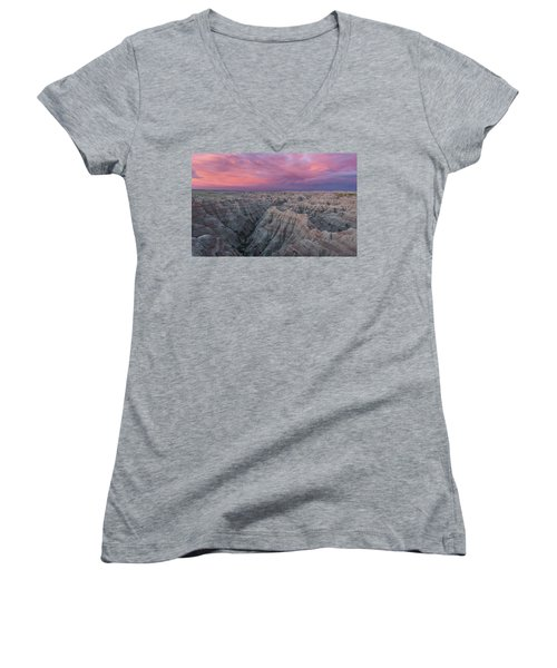 Badlands Sunrise Women's V-Neck