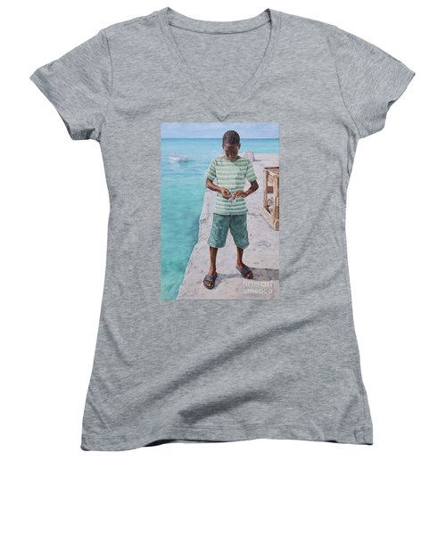 Baiting Up Women's V-Neck (Athletic Fit)