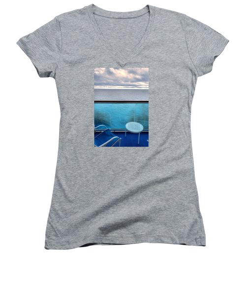 Balcony View Women's V-Neck T-Shirt