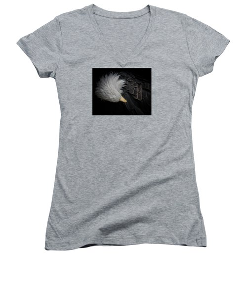 Bald Eagle Cleaning Women's V-Neck T-Shirt