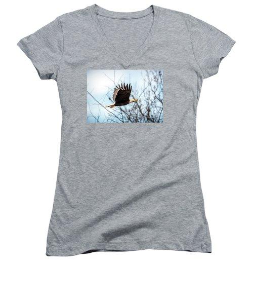 Bald Eagle Flight Women's V-Neck