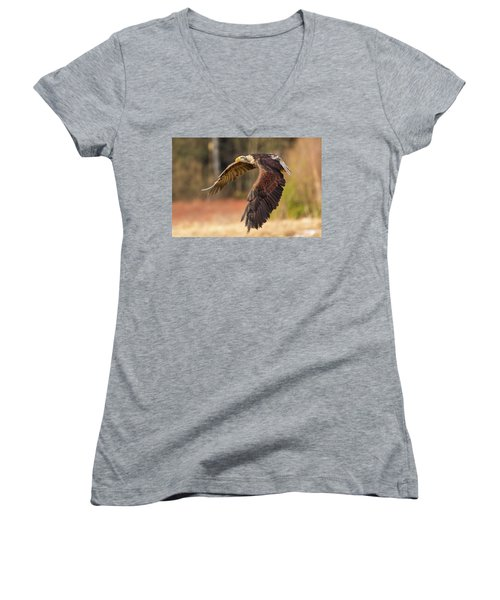 Bald Eagle In Flight Women's V-Neck (Athletic Fit)