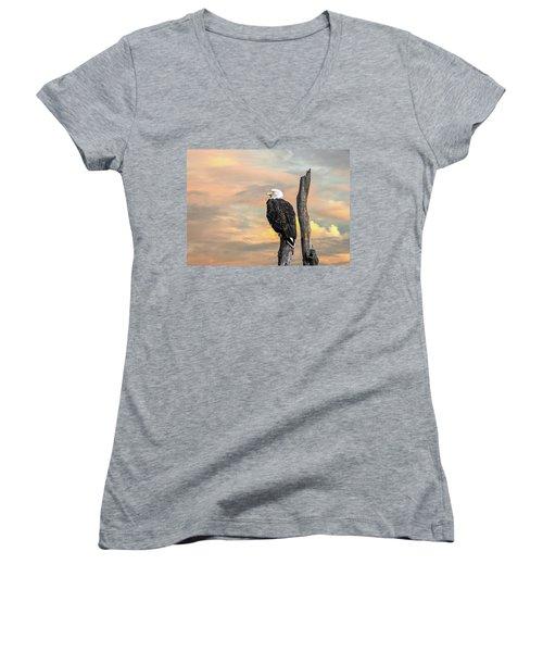 Bald Eagle Inspiration Women's V-Neck