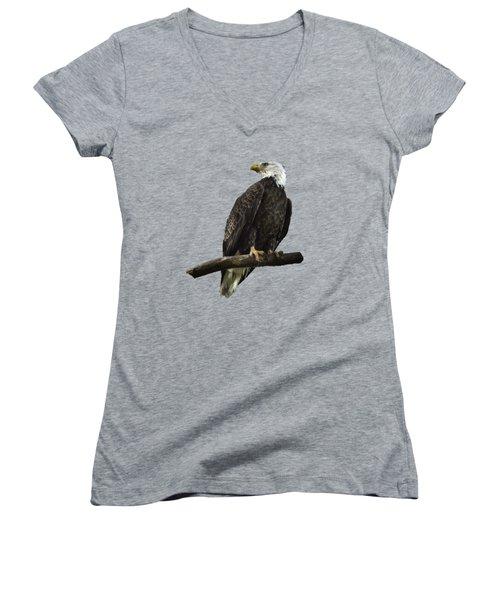 Bald Eagle Transparency Women's V-Neck