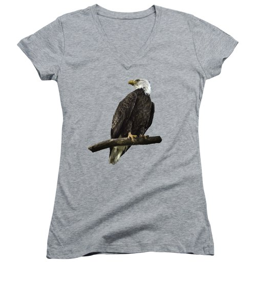 Bald Eagle Transparency Women's V-Neck T-Shirt