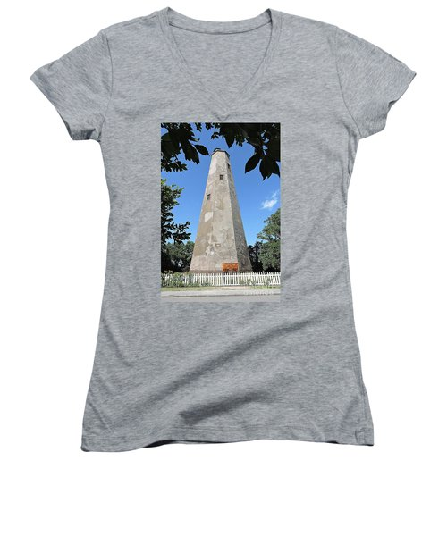 Bald Head Island Lighthouse Women's V-Neck T-Shirt