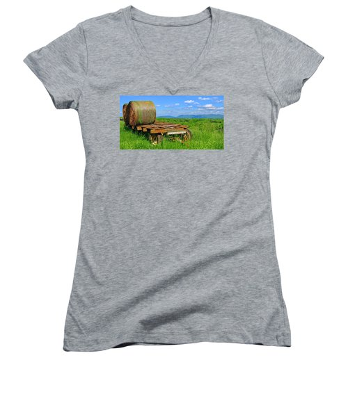 Bales At Rest Women's V-Neck (Athletic Fit)