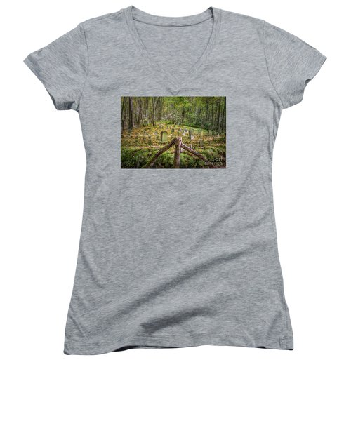 Bales Cemetery Women's V-Neck (Athletic Fit)