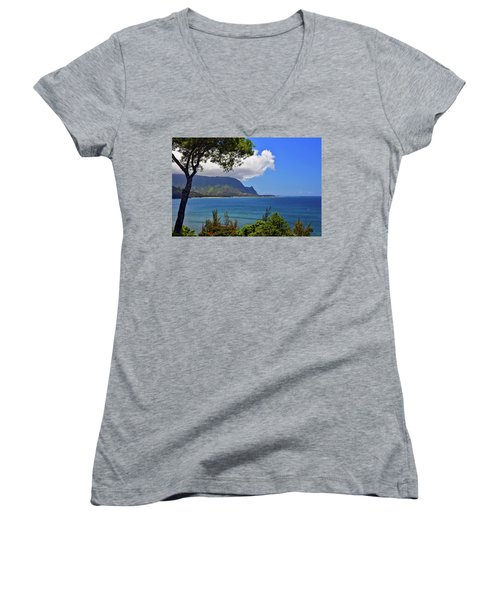 Bali Hai Hawaii Women's V-Neck T-Shirt