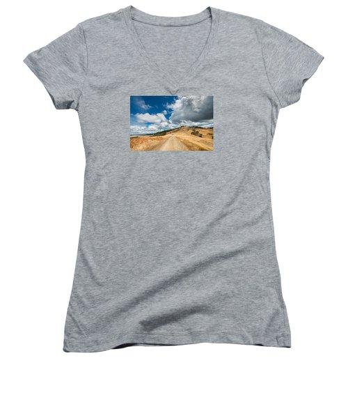 Ball Hills In Summer 3 Women's V-Neck T-Shirt