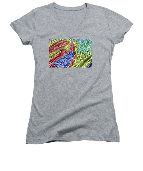 Balloon Abstract 1 Women's V-Neck (Athletic Fit)