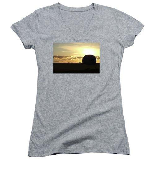 Balloonrise Women's V-Neck T-Shirt (Junior Cut) by Marie Leslie