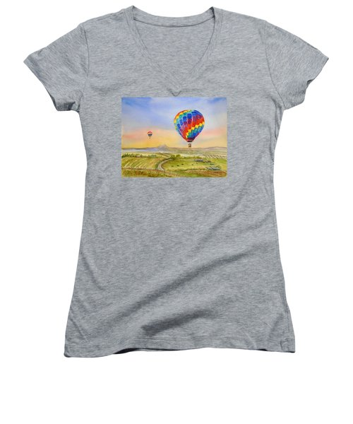 Balloons Over Mcminnville Women's V-Neck (Athletic Fit)
