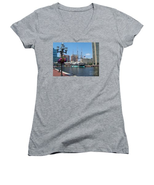 Baltimore Inner Harbor Women's V-Neck