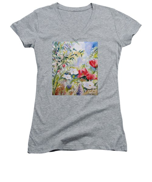 Bamboo Forest Women's V-Neck (Athletic Fit)