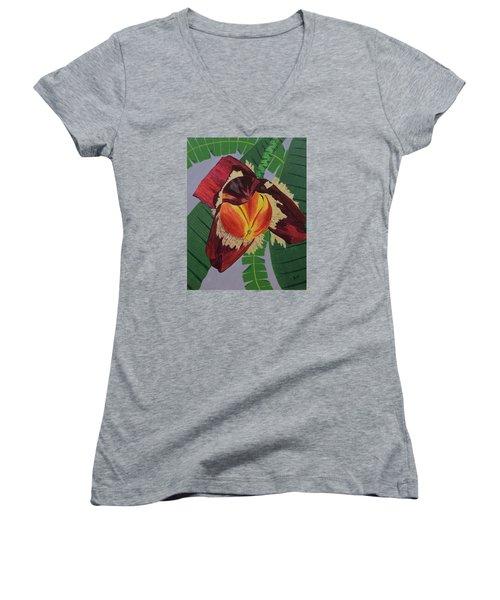 Banana Blossom Women's V-Neck T-Shirt
