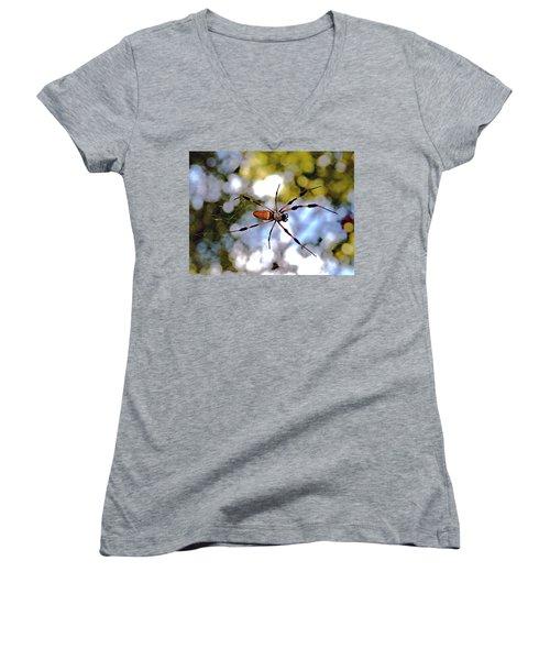 Banana Spider   1 Women's V-Neck T-Shirt