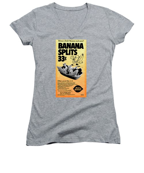 Banana Split Advertising 1973 Women's V-Neck (Athletic Fit)