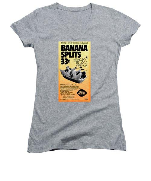 Banana Split Advertising 1973 Women's V-Neck