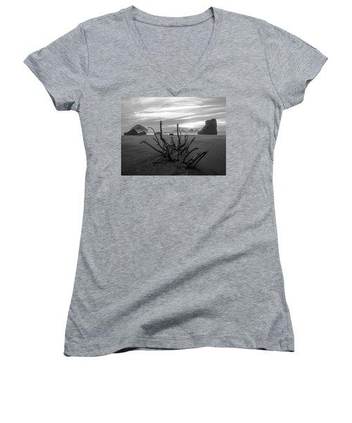 Bandon Beach Tree Women's V-Neck T-Shirt