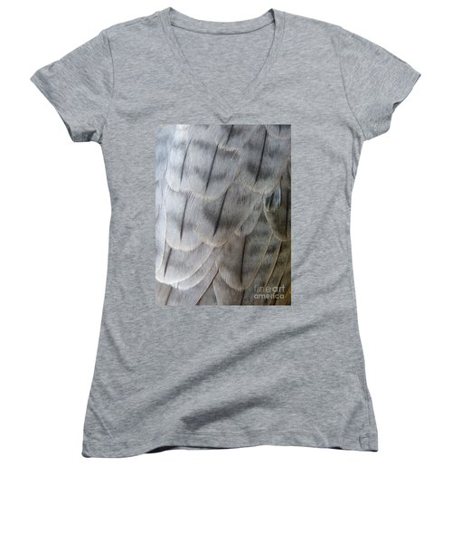 Barbary Falcon Feathers Women's V-Neck T-Shirt