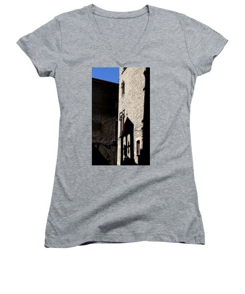 Women's V-Neck T-Shirt (Junior Cut) featuring the photograph Barcelona 2 by Andrew Fare