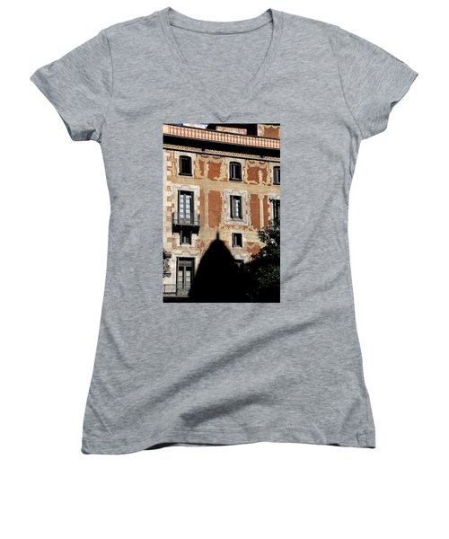 Women's V-Neck T-Shirt (Junior Cut) featuring the photograph Barcelona 3 by Andrew Fare
