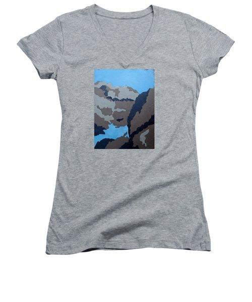 Barker Dam Abstract Women's V-Neck T-Shirt
