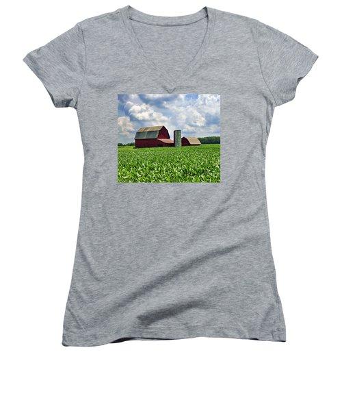 Barn In The Corn Women's V-Neck T-Shirt