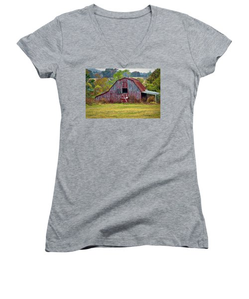 Barn On White Oak Road 2 Women's V-Neck
