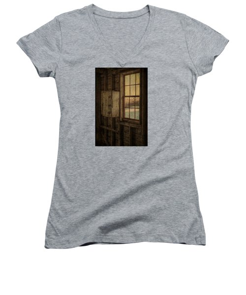 Barn Window Women's V-Neck (Athletic Fit)