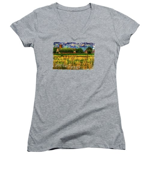 Barn With Green Roof Women's V-Neck