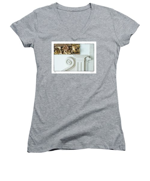 Women's V-Neck T-Shirt (Junior Cut) featuring the photograph Baroque by R Thomas Berner