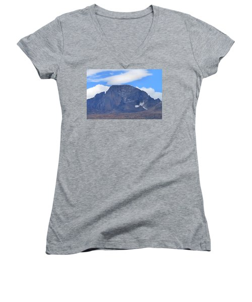 Women's V-Neck T-Shirt (Junior Cut) featuring the photograph Barren Mountain Landscape Colorado by Dan Sproul