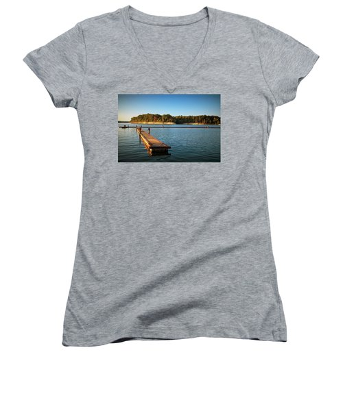 Barren River Lake Dock Women's V-Neck