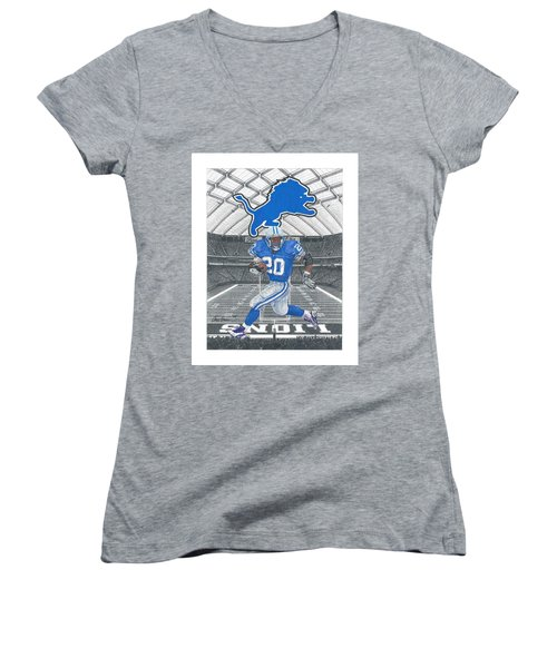 Barry Sanders Women's V-Neck (Athletic Fit)