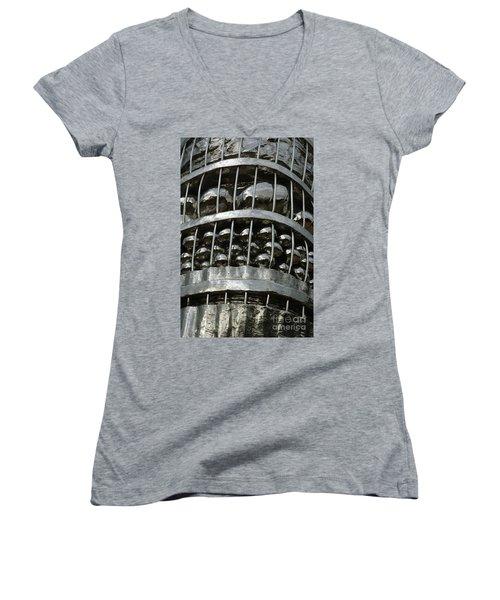 Basket Of Farmer's Produce. Women's V-Neck T-Shirt