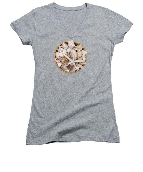 Basket Of Shells Women's V-Neck (Athletic Fit)