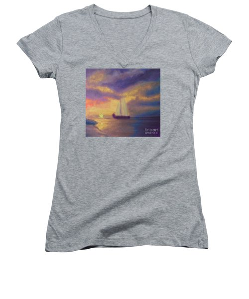Basking In The Sun Women's V-Neck T-Shirt (Junior Cut) by Holly Martinson