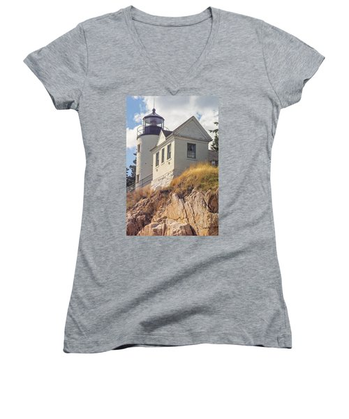 Bass Harbor Light Photo Women's V-Neck T-Shirt