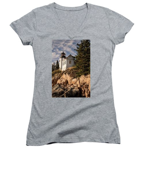 Bass Harbor Lighthouse Women's V-Neck