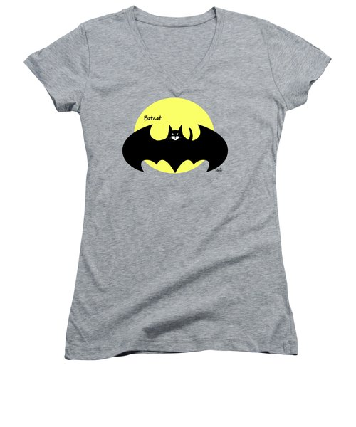 Batcat Women's V-Neck (Athletic Fit)