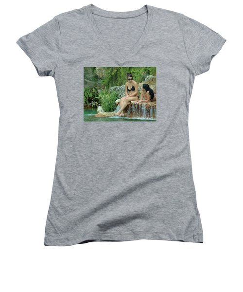 Bathing Beauties Women's V-Neck T-Shirt