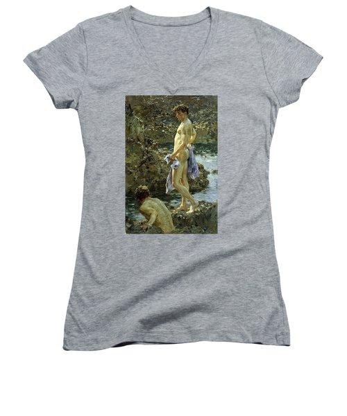 Bathing Group Of 1914 Women's V-Neck T-Shirt
