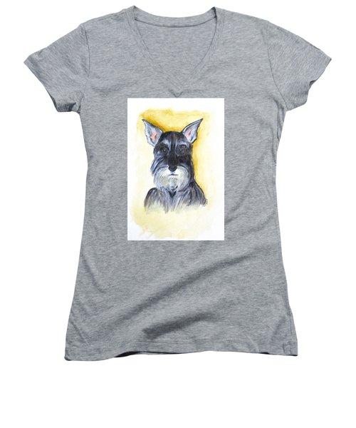 Batman Bouser Women's V-Neck T-Shirt (Junior Cut) by Clyde J Kell